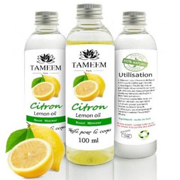 Huile de massage au citron 100ml - Tameem