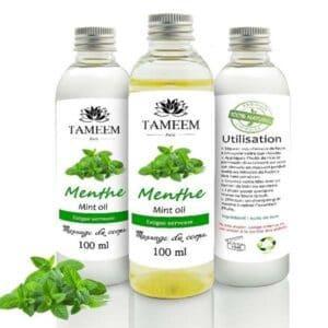 Huile de massage à la menthe 100ml - Tameem